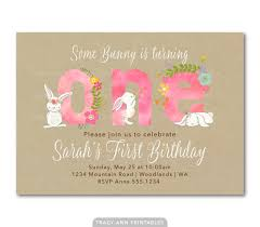 pink 1st birthday invitation fun to be one by tracyannprintables