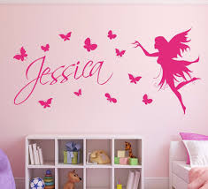 design your own wall art stickers small family name u monogram butterflies name wall sticker kids home decor butterfly fairy girls wall art wall sticker decorative in wall stickers from home u garden on with design your