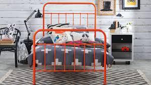Domayne Bed Frames Sunday Bed Frame Orange Domayne