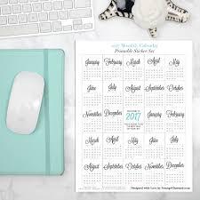 2017 printable calendars strange charmedstrange charmed 2017 monthly calendar printable planner stickers erin condren sized boxes