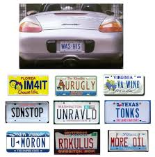 Make Your Own Vanity Plate Amusingly Clever License Plates Reflections Of Pop Culture