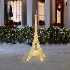 gemmy lightshow 6 8ft sparkle led light eiffel tower