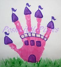 posh little pixies princes castle hand print preschool