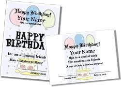 free printable birthday certificates printable birthday cards