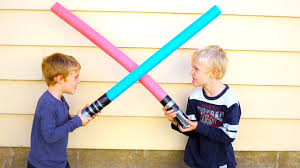 how to make kids lightsabers kid star wars crafts youtube