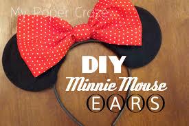diy minnie mouse ears tutorial my paper craze