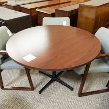 used round office table used 48 round conference table mahogany ctb1541 017 office