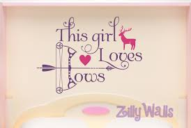 this girl loves bows hunting wall decal decor zoom