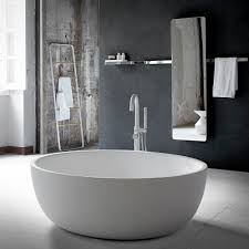 free standing bathtub round solid surface moon inbani