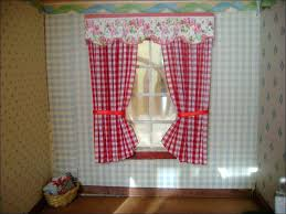 red and white country kitchen curtains valance tier french dining