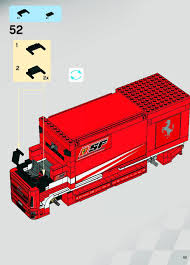 ferrari lego lego ferrari truck instructions 8185 racers