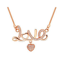 Engraved Necklaces For Couples Silver Beautiful Love Heart Pendant Necklace For Girls