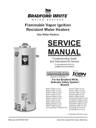bradford white water heater thermostat well sensor fault the