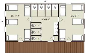 Bunkhouse Floor Plans by Bunkhouse Building Plans Moose Lodge Bunkhouse Camping Log Cabin