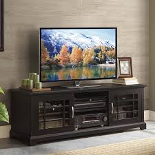 tv stand glass doors corliving wb 2609 west lake 60 in tv component bench hayneedle
