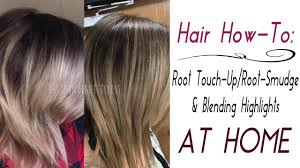 at home root touch up root smudge u0026 quick highlights youtube