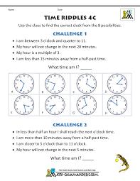 time worksheet time riddles harder
