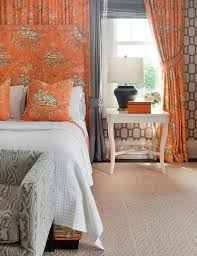 Pink And Orange Curtains And Orange Toile Curtains Design Ideas