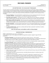 resume information technology manager director of information technology resume resume sle