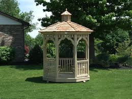 8 Sided Wooden Gazebo by A Small And Beautiful Octagon Gazebo With Wood Cedar Shake Roof