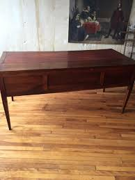 italian antique leather top desk 2 drawers omero home