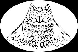 cute owl black and white clipart china cps
