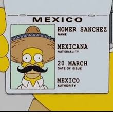Homer Meme - mexico homer sanchez name mexicana nationality 20 march oate of