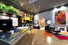Modern Home Office 1 Bright Modern Home Office Yellow Shelves Interior Design Ideas