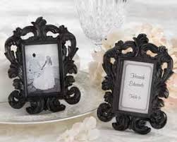 picture frame wedding favors black baroque place card holder photo frame wedding favors by