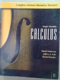 cheap james stewart calculus 3rd edition solutions find james