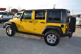yellow jeep wrangler unlimited 2008 jeep wrangler unlimited x in west plains mo south 63 motors
