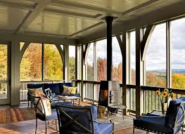 burlington screen porch porch traditional with wood ceiling
