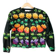 fall harvest blingy tacky thanksgiving sweater the