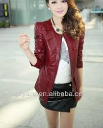 girls women ladies red leather jacket and skirts set buy girls