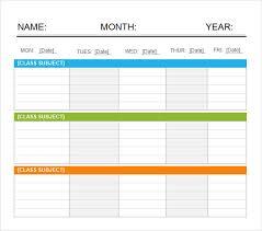 sample calendars