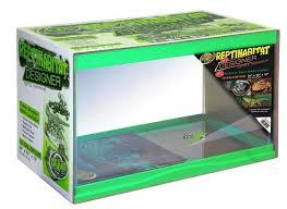 zoo med designer terrarium tank neon green 10 gallon