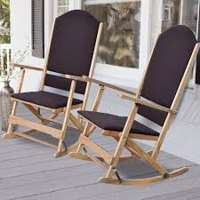 Wood Folding Chairs Wildon Home Cedar Creek Solid Wood Folding Rocking Chairs