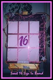 sweet 16 sign in book custom sign in boards