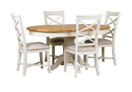 off white dining room set arles round extending dining table with 4 chairs furniture village