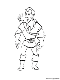 gaston coloring beauty beast coloring pages