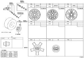 lexus spare parts england disc wheel u0026 wheel cap lexus part list jp carparts com