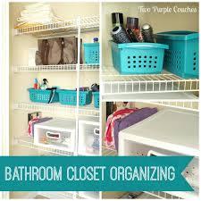 Bathroom Closet Organization Bathroom Closet Organizationbathroom Closet Storage Organizing Via