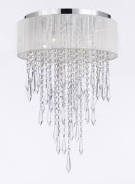 Chrome Crystal Chandelier by G7 B27 B12 White 2130 4 Gallery Chandeliers Flushmount 4 Light