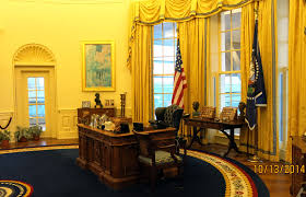 Oval Office Desk by A Visit To The Clinton Presidential Library