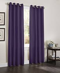 Plum Faux Silk Curtains Kashi Home Erin Collection Window Treatment Panel