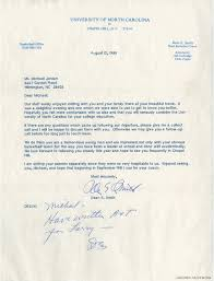 michael jordan u0027s recruiting letter from dean smith unc diploma up