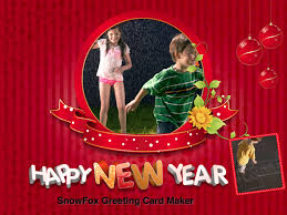 online new years cards snowfox greeting card maker here to make greeting cards easily