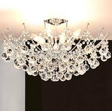 lustre chambre moderne led lustre en cristal luminaire chrome finition lustre le