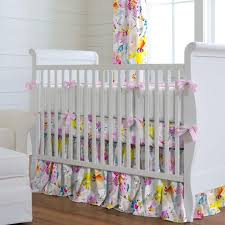 Gray And Yellow Crib Bedding Nursery Beddings Purple Yellow And Gray Crib Bedding With Sweet
