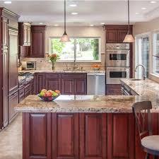kitchen cabinet marble top foshan factory sale large size marble top island kitchen cabinet design